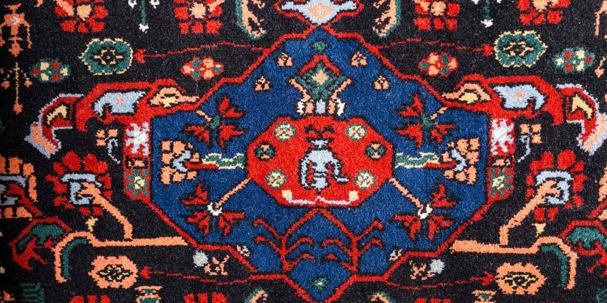 שטיח פרסי כחול אדום